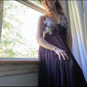 Free People beaded sheer dress